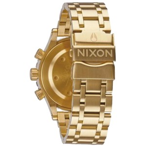 Nixon A404501 Gold Dial Gold Tone Stainless Steel Chronograph Women's Watch