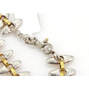 Gurhan Sterling Silver & 24K Yellow Gold Hammered Bracelet