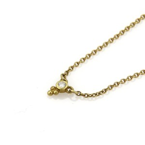 Judith Ripka 18K Yellow Gold Mini Dew Drop Diamond Necklace