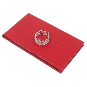 Carrera Y Carrera 18K White Gold 5P Diamond Crown Band Ring Size 8.25