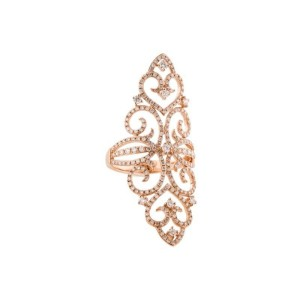 14K ROSE GOLD DIAMOND FILIGREE COCKTAIL RING