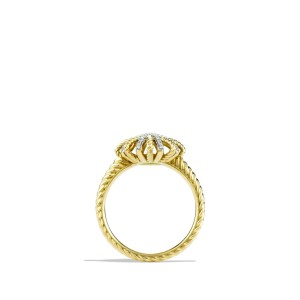 David Yurman Starburst 18K Yellow Gold With Diamonds Ring Size 6.25