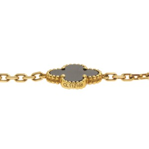 Van Cleef & Arpels Alhambra 20 onyx Motif Necklace