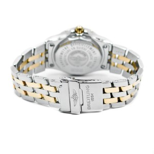 Breitling B71340 Mother of Pearl Two-Tone 18K Gold Stainless Steel Women's Watch