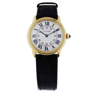 Cartier Ronde Solo Quartz White Dial 18K Yellow Gold W6700355 Watch