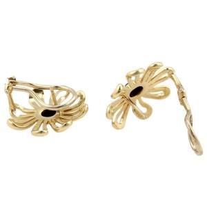 Tiffany & Co. Paloma Picasso 18K Yellow Gold Onyx Daisy Earrings