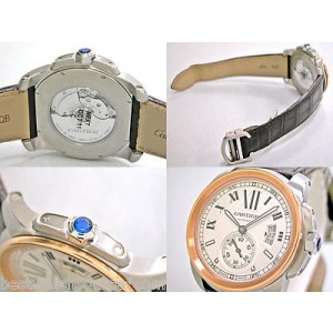 Cartier Calibre Stainless Steel & 18K Rose Gold Automatic Watch