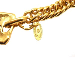 Chanel Gold Tone Draped Clasp Belt Necklace
