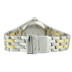 Breitling D52065 J Class Black Dial 18K Yellow Gold Stainless Steel Quartz 30mm Watch