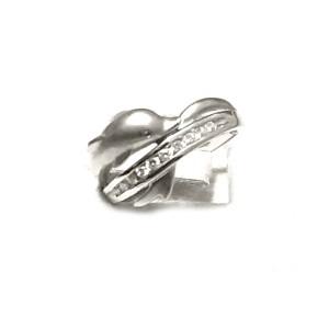 Bulgari 14K White Gold Dolphin Diamond Ring