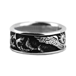 David Yurman Sterling Silver Griffin Band Ring