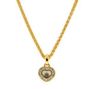 Chopard 18K Yellow Gold & Diamonds Heart Pendant Necklace
