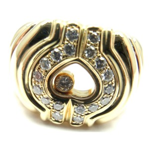 Chopard 18K Yellow Gold Happy Diamond Ring