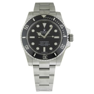 Rolex 114060 Submariner Ceramic Bezel Black Dial 40mm Watch