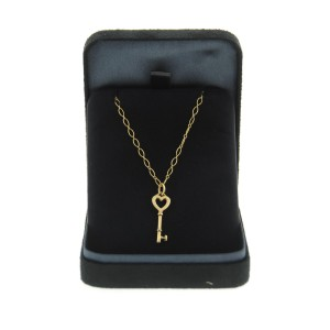 Tiffany & Co. 18K Yellow Gold Key Necklace Pendant