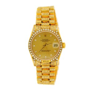 Rolex Datejust 68158 18K Yellow Gold 31mm Womens Watch