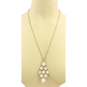 Ippolita 18K Yellow Gold Rock Candy Diamond & Mother of Pearl Cascade Pendant Necklace