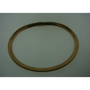 Cartier 14K Yellow Gold Tubogas Choker Necklace