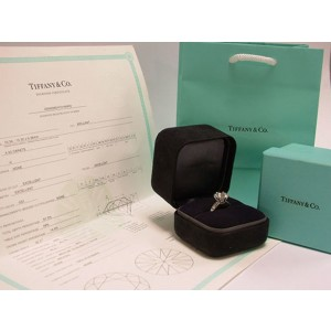 Tiffany & Co. Platinum 4.94ct Diamond Ring Size 5.5