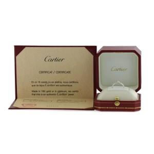 Cartier 18K White Gold Heart Diamond Ring Size 4.5