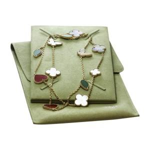 Van Cleef & Arpels 18K Yellow Gold Lucky Alhambra Motif Long Necklace