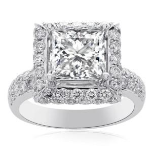 14K White Gold Diamond Engagement Ring