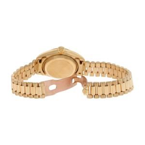 Rolex President 69178 Mother Of Pearl 18K Gold Diamond Dial Fluted Bezel Womens Watch