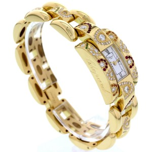 Chopard La Strada 41/7395 18K Yellow Gold Diamonds & Colored Stones Watch