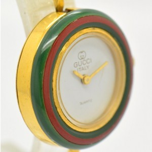 Gucci Gold Plated White Dial Quartz 26 mm Womens Watch
