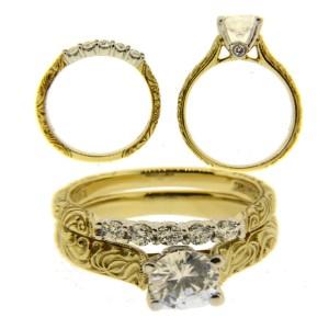 Scott Kay 19K Gold & Platinum Diamond Engagement Ring