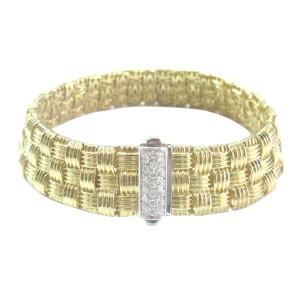 Roberto Coin Appassionata 18K Yellow Gold & Diamond 3-Row Bracelet