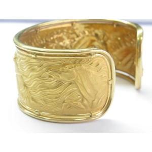 Carrera y Carrera 18K Yellow Gold Horse Cuff Bracelet