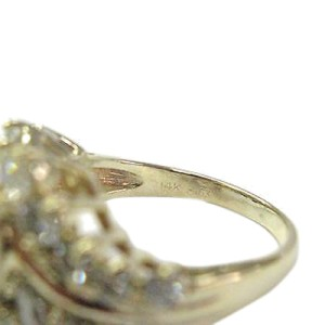 14K Yellow Gold & Diamond Cluster Ring
