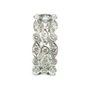Tiffany & Co. Platinum Swing 3-Row Diamond Ring