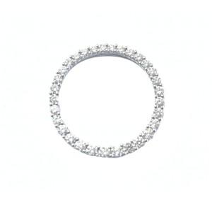 18K White Gold & Diamond Circular Pendant