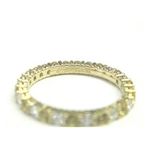 Tiffany & Co. 18K Yellow Gold Sapphire & Diamond Band Ring