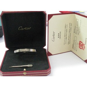 Cartier Love 18K White Gold Bracelet