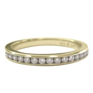 Tiffany & Co.18K Yellow Gold Diamond Channel Set Band
