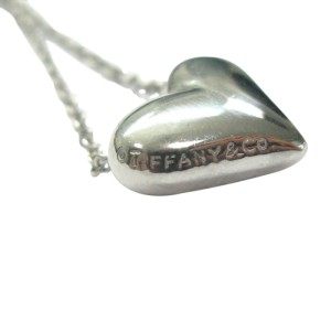 Tiffany & Co. Platinum 5-Diamond Heart Pendant Necklace