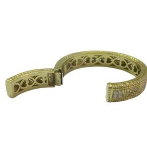 Judith Ripka 18K Yellow Gold Diamond Cuff Bracelet