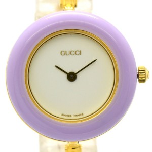 Gucci 11/12.2 Gold Plated Bezel Changes Color 26mm Womens Watch