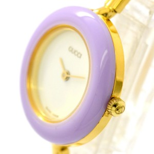 Gucci 11/12.2 Gold Plated with White Dial 26mm Womens Watch