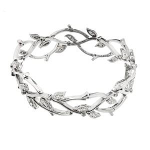 Tiffany & Co. 950 Platinum Diamond Garland Bracelet