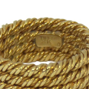 Tiffany Four Row Twisted Rope 18K Yellow Gold Ring
