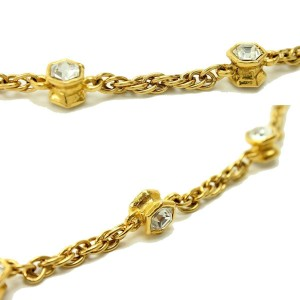 Chanel Gold Tone Metal Bijou Logo CC Mark Necklace