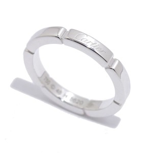 Cartier Maillon Panthere 18K White Gold Ring Size 4.5