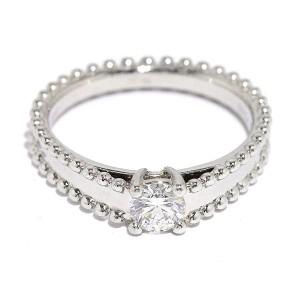 Van Cleef & Arpels 950 Platinum and 0.31ct Diamond Ring Size 5.25