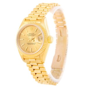 Rolex President Datejust 69178 18K Yellow Gold Automatic Womens Watch