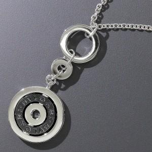 Bulgari 750 18K White Gold Astrale Cerchi Black Ceramic Necklace