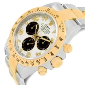 Rolex Cosmograph Daytona 116523 Panda Dial Steel Yellow Gold Mens 40mm Watch